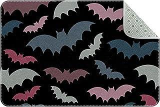 Doormat Custom Indoor Welcome Door Mat, Colorful Bats Home Decorative Entry Rug Garden/Kitchen/Bedroom Mat Non-Slip Rubber...