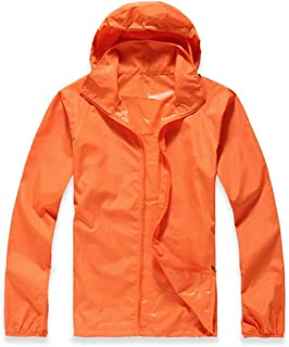 Lanbaosi Women's Lightweight Jacket Uv Protect+Quick Dry Windproof Skin Coat Medium Orange