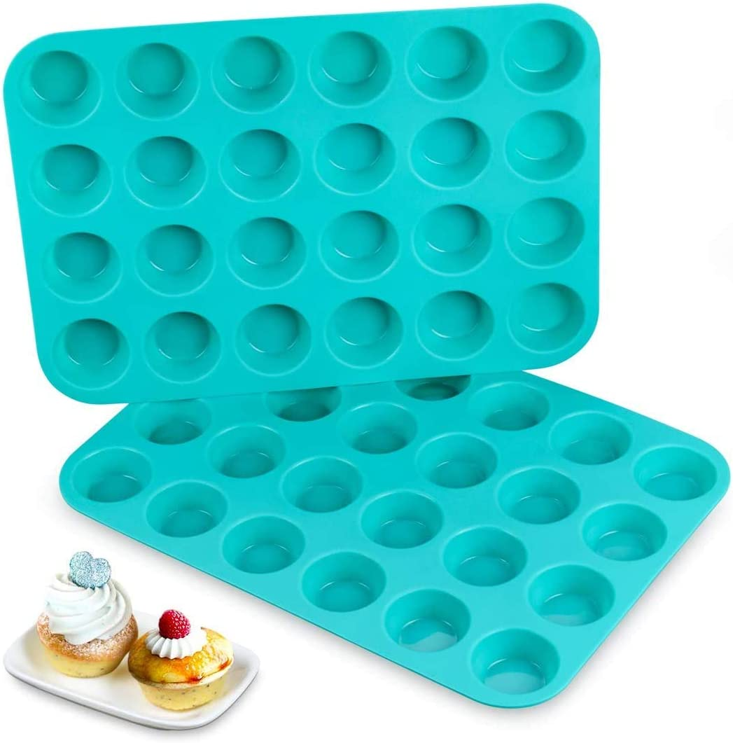 Silicone Muffin Pan - Low price 24 NEW Cupcake Mini Molds Fre BPA