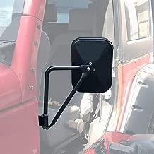 JoyTutus Doors off Mirrors for Jeep Wrangler, Side Rear View Mirror fits JK JKU JL 1997 to 2018