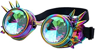 Premium Quality Steampunk Goggles Cyber Glasses Punk Style Welding Cosplay Gothic Rustic Rivet Vintage Rave Novelty