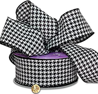 Best houndstooth ribbon black and white Reviews