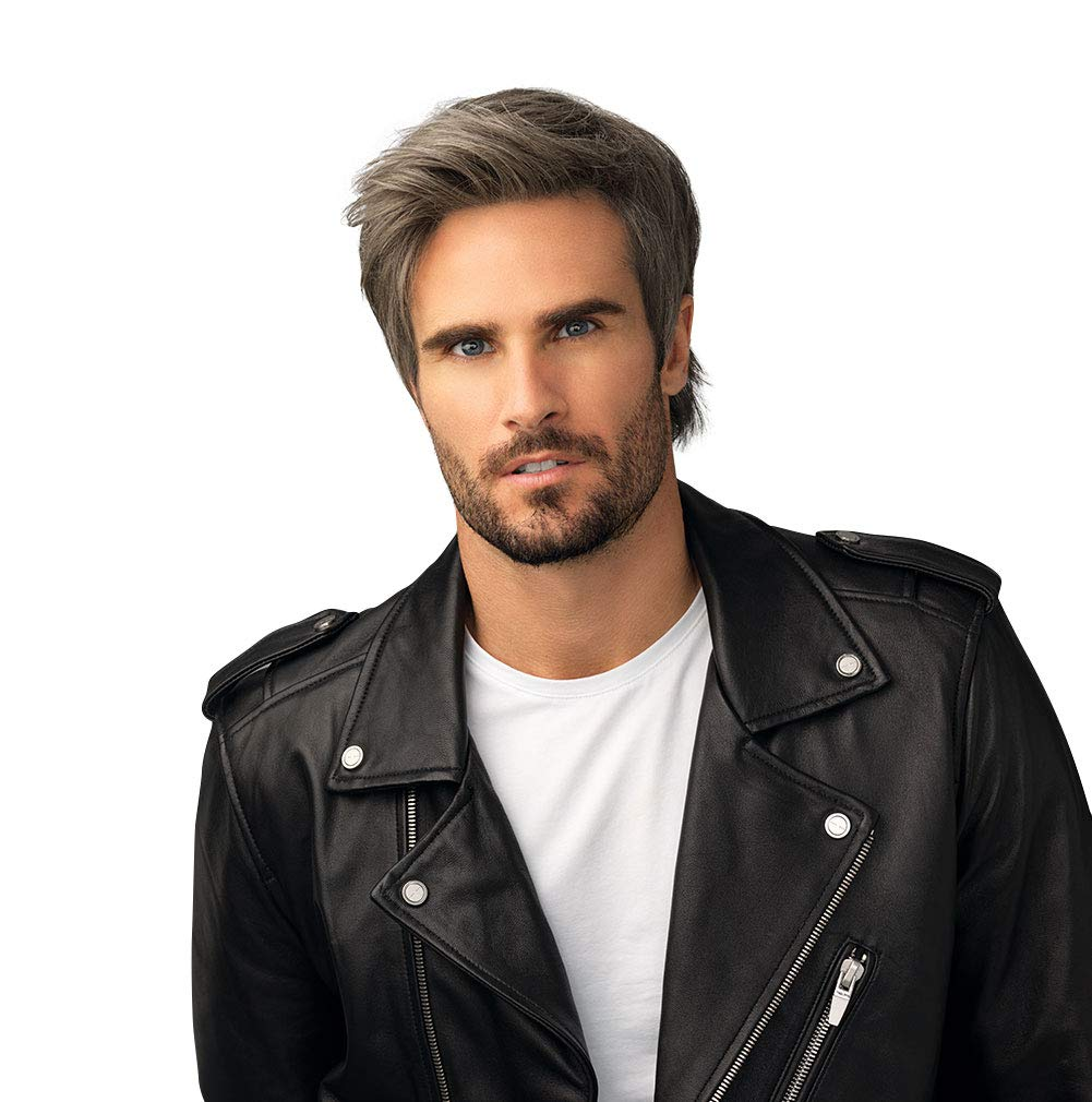 Amazon Com Hair U Wear Him Edge Cut Hairpiece For Men With Longer Front And Shorter Sides M12 22ss Shaded Medium Ash Blonde By Hairuwear Beauty