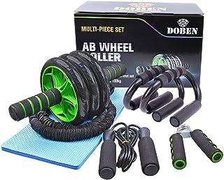 DOBEN AB Roller Abdominales con 3 Ruedas, AB Wheel, Rueda