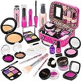 Sanlebi Prétend Maquillage Enfant Jouet Filles, 21PCS Malette Maquillage Jouet Ensemble De Maquillage Beauté Cadeau Fille 3 4 5 Ans(Faux Maquillage)