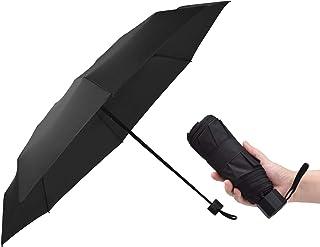 折りたたみ傘 超軽量 TAIKUU Teflon超撥水 超コンパクトメンズ おりたたみ傘 晴雨兼用 手動開閉 傘カバー付き 260g T5 (ブラック)