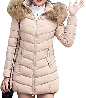 Women Removable Hooded Zipper Jacket Thickened Down Warm Coat Tops Overcoats