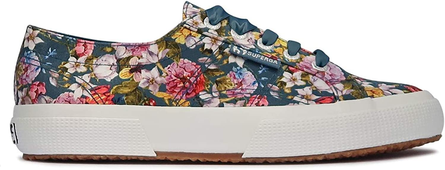 Superga Womens 2750 Flowery Satin Textile Trainers