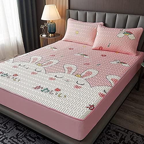 XLMHZP Látex para Dormir Colchón de enfriamiento de Verano Doble Cama King Suave Almohadillas de Aire acondicionadoajustable Dormitorio Apartamento de Ropa de Cama antideslizante-180x200(1pcs) 9