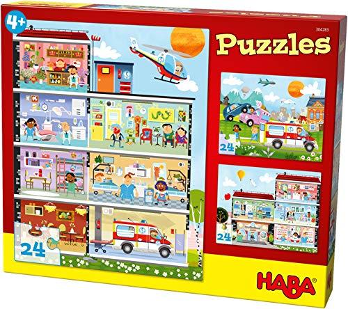 Puzzles Kleines Krankenhaus. 3 Motive je 24 Teile