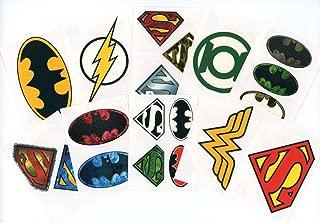 DC Comics Logo Temporary Tattoos (Set of 10 Sheets)(Includes Superman Wonder Woman, Batman, Green Lantern, and The Flash)