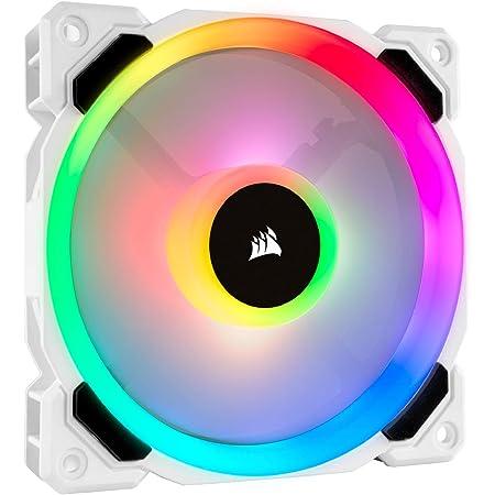 Corsair LL Series, LL120 RGB, 120mm RGB LED Fan, Single Pack- White