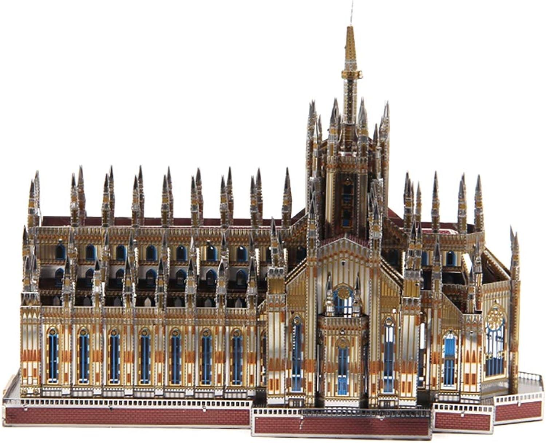 descuento online GJQASW Rompecabezas 3D, Catedral de Milán Milán Milán Modelo de Rompecabezas de Metal en 3D Juego de construcción Juguetes educativos Artesanía Montaje Decoraciones Ahorre Duradero, no se desvaneció  almacén al por mayor