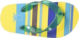 United Colors of Benetton Unisex Kid's Yellow Flip-Flops-5 UK (24 EU) (17A8CFFPU847I)