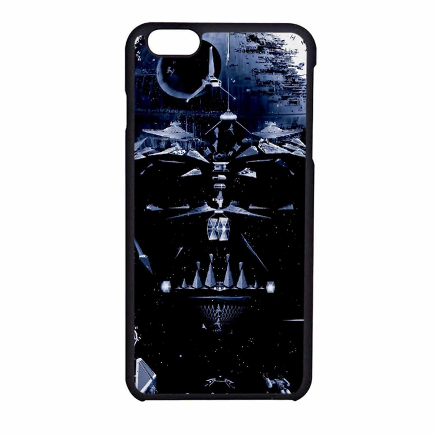Darth Vader Wallpaper Iphone 6 6s Case Black Plastic Amazon Co Uk Electronics
