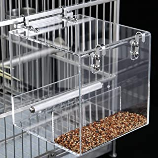 KINTOR No-Mess Bird Feeder NO Assembly with Rough-surfaced Stainless Steel Perch