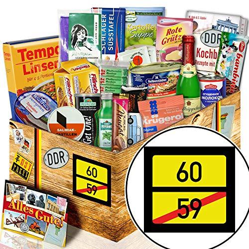 Ortsschild 60 - Geschenke zum 60 Geburtstag Mann - Geschenk DDR Spezialitäten