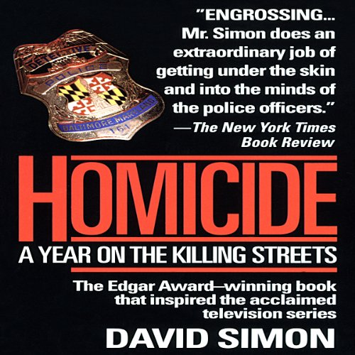 Homicide audiobook cover art
