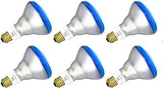 6 Qty. Halco 65W BR30 Blue 130V 5M Prism BR30BLU65/5 65w 130v Incandescent Blue Prism Lamp Bulb