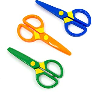 JIALEEY Plastic Child-Safe Scissor Set, Toddlers Training Scissors, Pre-School Training Scissors and Children Art Supplie...