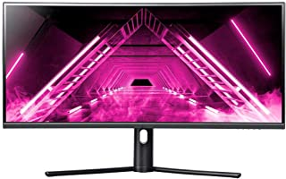 Dark Matter by Monoprice 34in Curved Ultrawide Gaming Monitor - 21:9, 1500R, UWQHD, 3440x1440p, 144Hz, 4ms GTG, DisplayHDR...