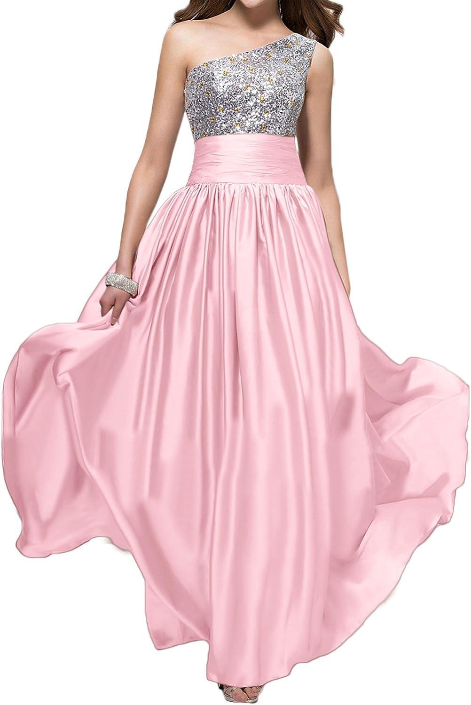 QY Bride One Shoulder Evening Formal Dresses for Bridesmaid Long
