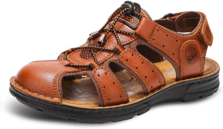 Herren Sandalen Neue Sport Outdoor Freizeit Atmungsaktive Leder Baotou Sandalen Sommer Mittleren Alters Sandalen