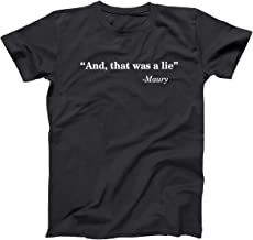 Donkey Tees and That was A Lie Funny Quote Mens Shirt
