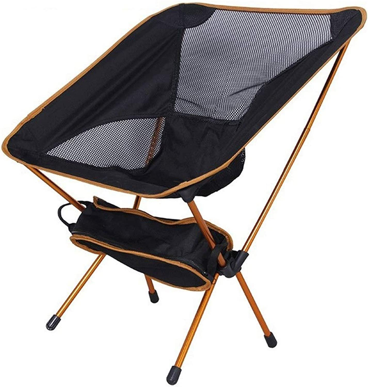 Ultralight Folding Camping Backpacking Chair Portable Compact and Heavy Duty Outdoor Camping BBQ Beach Travel Picnic Festival with 1 Storage Carry Bag (color   1 Pcs orange)