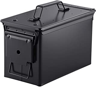 Metal Ammo Case Can � Military and Army Solid Steel 50 Cal Holder Box