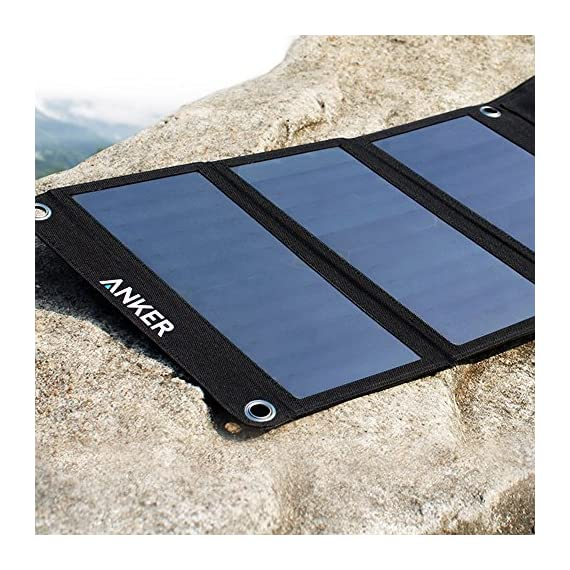 Solar Panel, Anker 21W 2-Port USB Portable Solar Charger with Foldable Panel, PowerPort Solar for iPhone 11/Xs/XS Max/XR… 6 The Anker Advantage: Join the 50 million+ powered by our leading technology Fast Charging Technology: PowerIQ delivers the charging speed up to 2.4 amps per port or 3 amps overall under direct sunlight. 21 watt SunPower solar array is 21.5-23.5% efficient, providing enough power to charge two devices simultaneously Incredibly Durable: Industrial-strength PET polymer faced solar panels sewn into a rugged polyester canvas offer weather-resistant outdoor durability