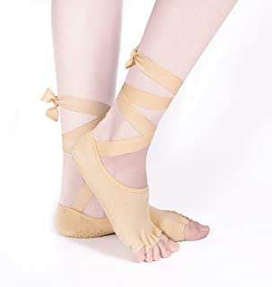 Cotton Silicone Ballet Socks Strapless Backless Yoga Socks,Fully Breathable
