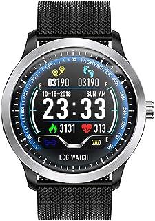 YJJ Inteligente perseguidor del Reloj, Multi-Sport Mode IP67 a Prueba de Agua Rastreador de Fitness con Pulsómetro Carga Fitness Relojes para iOS Android Contacto magnético