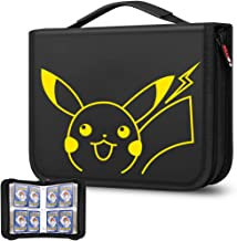 TPCY Card Holder Book Carrying Case for Pokemon Trading Cards, Holder Album Binder Compatible with 20 Premium 4-Pocket Pag...
