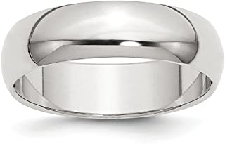 925 Sterling Silver 6mm Half Round Wedding Ring Band Classic Domed Fine Jewelry Gifts For Women For Her