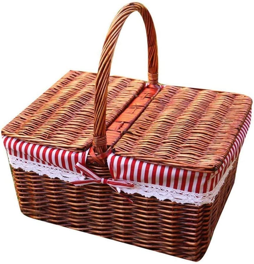 Recommendation Yadianna Picnic Basket Vine Popular standard with Collection Shop Hand-held Cover