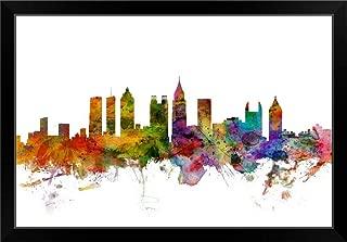 CANVAS ON DEMAND Atlanta Georgia Skyline Black Framed Art Print, 33