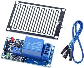 Electronic Module Rain Water Sensor Module + DC 12V Relay Control Module Rain Sensor Water Raindrops Detection Module Robo...
