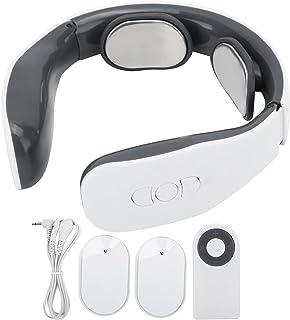Masajeador de cuello inteligente, masajeador de cuello de hombro con 2 almohadillas de electrodos, 6 modos, 15 niveles de intensidad, masajeador de cuello de pulso eléctrico