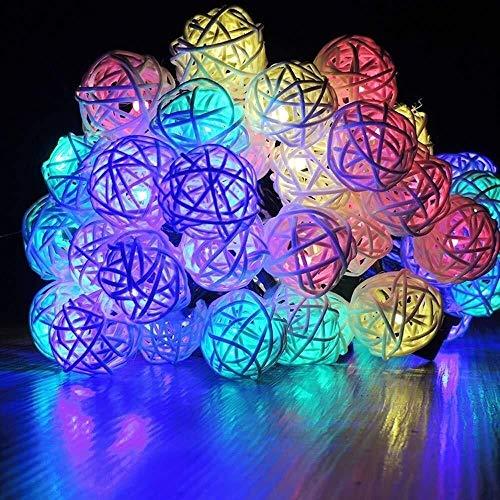 zbm-zbm La Secuencia Solar Luces, Luces Inteligentes 20LED Vacaciones Detección De Luz Patio De Luces De Navidad Luces De Cuerda Luces de Hadas