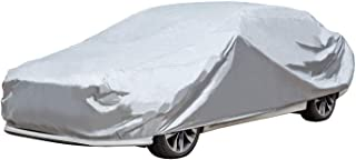 KABATEN Full Car Cover 3 Layer Polyester Sedans Fits UV Protection Breathable Dust Water Proof Scratch Resistant for Automobiles Outdoor Indoor Basic Guard Up to 170