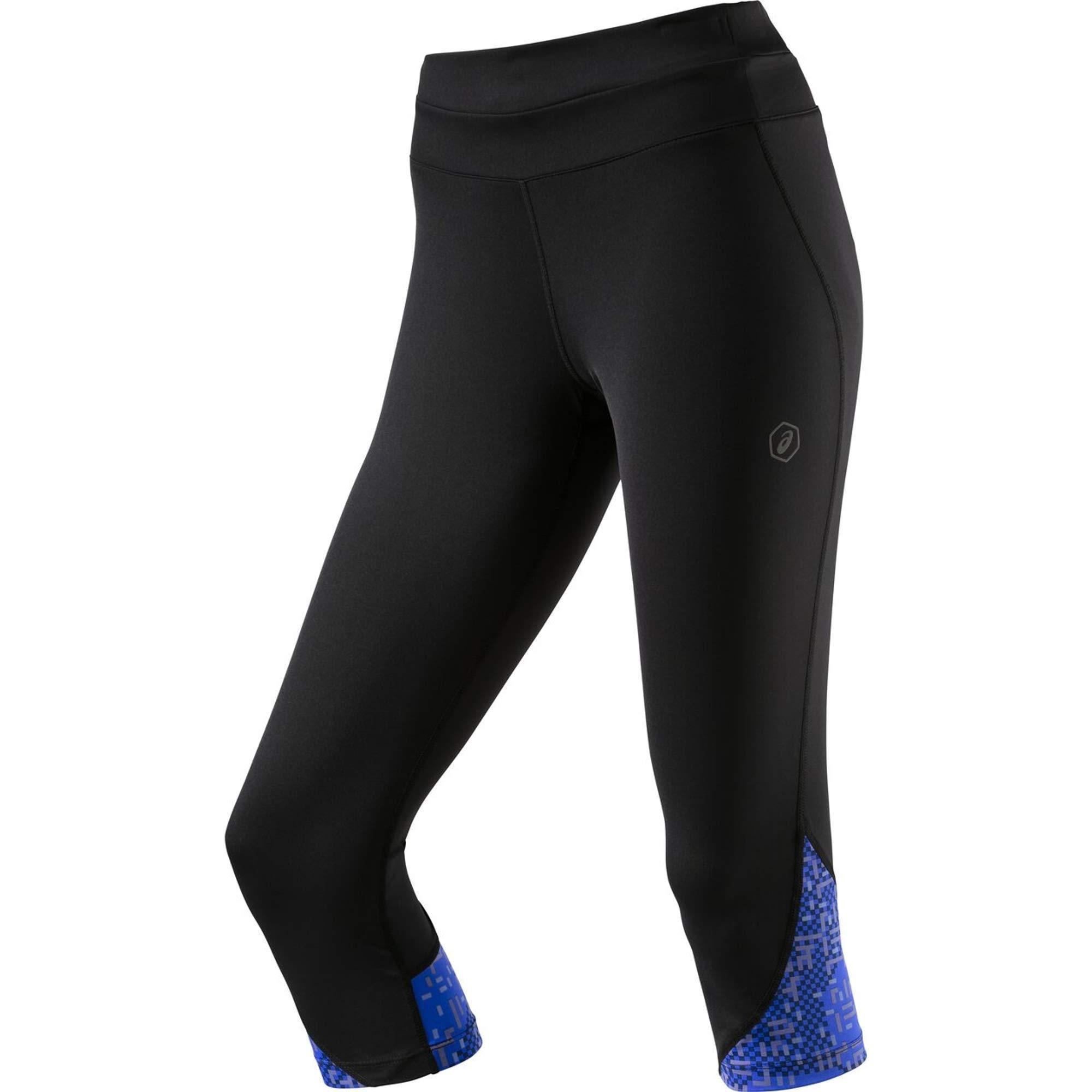 ASICS Damen Race Knee Tights, Performance Black/Lite Stripe, XS