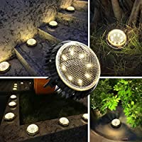10-Pack Jack & Rose Solar Waterproof Ground Lights