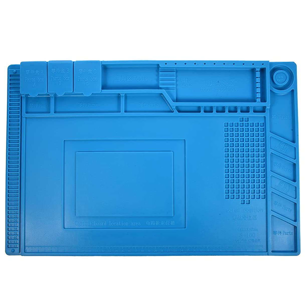お願いします瞬時に否認するSNOWINSPRING S-160 45x30cm断熱 シリコーンパッド デスクマットメンテナンスプラットフォーム