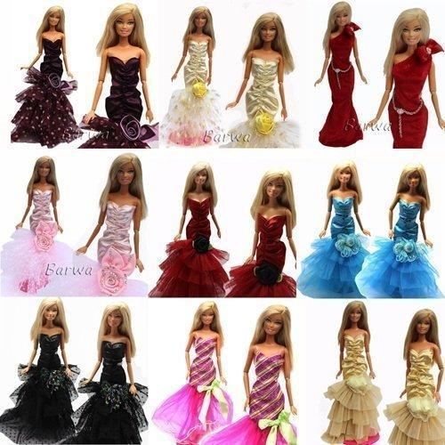 fat-catz-copy-catz 3PCS Night Looks Princess Abend Hochzeit Party Kleidung Kleidung, Bademantel Outfit für Barbie Puppe