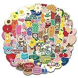 JZLMF Etiquetas engomadas Encantadoras del Oso de la Torta para el álbum de Recortes Decorativo Diario Etiqueta del palillo de la Etiqueta engomada de la papelería Kawaii 100 unids/Set