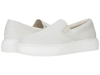 J/Slides Delia (Off-White Embossed Leather) Women