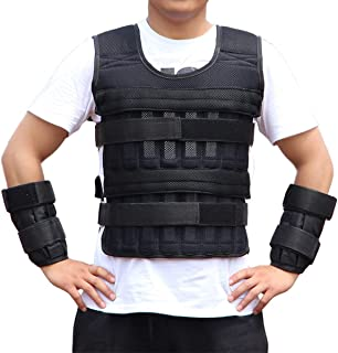 Xingny 33LB/15kg Adjustable Weighted Vest Weight Jacket for Exercise Fitness Training (Weights Not Included)