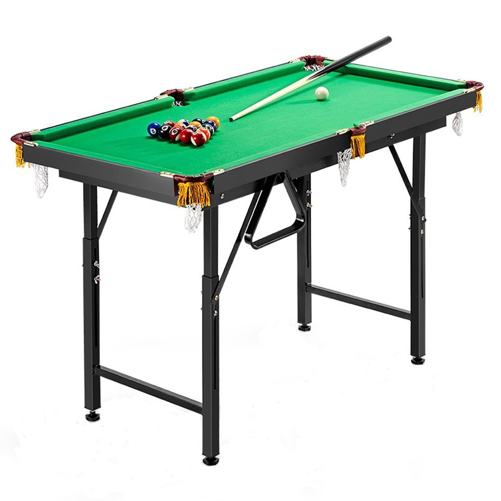 Plegable – billar 120 cm x 67 cm x (60 – 85) cm Mesa de billar mesa de