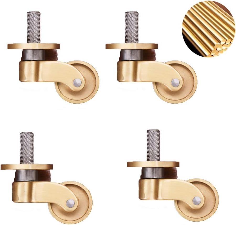 Zlovne Regular dealer Piano Caster Wheels Brass Material Pure Furniture Max 46% OFF